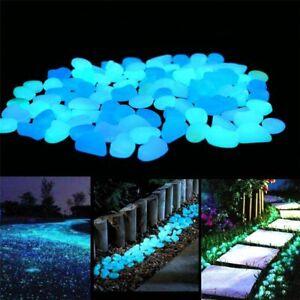 Pebble Stones For Fish Tank Aquarium Ornament Luminous Decors Accessories 100pcs