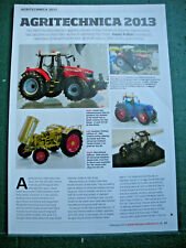 Agritechnica Hanover 2013 Farm equipment models toy article 4 page sides