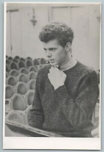 1958 Photo VAN CLIBURN in USSR at the conservatory for a rehearsal Rare Vintage