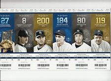 2014 NEW YORK YANKEES SEASON TICKET STRIP SHEET STUB SET MANTLE JETER RUTH ETC