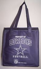 New NFL Insulated Tote Bag DALLAS COWBOYS 13x12x7 12 pk Lunch Shopping Tailgate