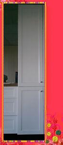 Flat Pack Kitchen Cabinet Pantry 600 Matte White Shaker