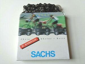 """*NOS Vintage SACHS Power Glide SC-40 1/2"""" x 3/32"""" 8 speed 116 link bicycle chain"""