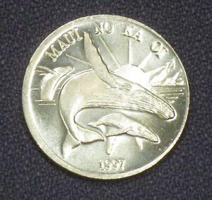 1997 Maui Trade Dollar $1 Token Hawaii Error MISSTRIKE Coin WRONG PLANCHET Rare!