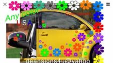 35 FLOWER TROPICAL Set w/ Yellow CENTERS Beetle Daisy DECAL CAR Boat Vehicle USA