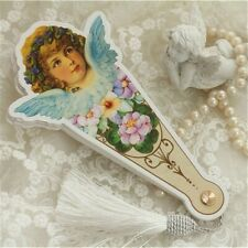 Womens Angel Folding Hand Fans Lolita Victorian Retro Floral Tassel Cute Gifts