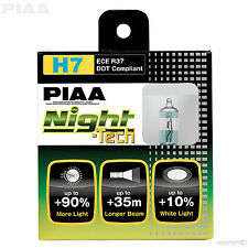HE-823 Piaa H7 noche Tech +90% más brillantes Headlight Bulbs 12V 55W H7 (x2) ECE DOT