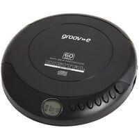 Groove Retro Series Personal CD Player Compact Disc Discman Black