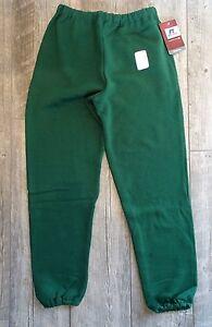 NEW Russell Men's Dri-Power Sweatpants - Dark Green - Adult Small
