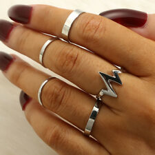 Vintage Boho Silver Gold Above Knuckle Rings Band Midi Finger Ring Set Jewelry