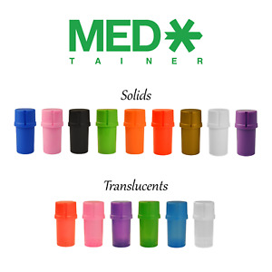 GENUINE - MedTainer Storage Container w/ Built-In Grinder - Various Colors