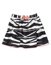 Gymboree Girl's Animal Party Black & White Zebra Print Skirt Girl Size 4 NEW