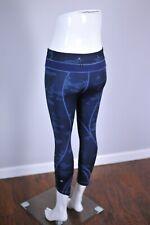 Lululemon Run: Inspire Crop II Hthrd Texture Lotus Camo Oil Slick Blue Women's 4