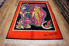 Designer Orientteppich Seidenteppich China 100% Seide Signiert 188 x 124 NEU