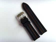 Fossile Original Spare Silicone CH2956 Watch Band Watch Strap Black 22 mm Black