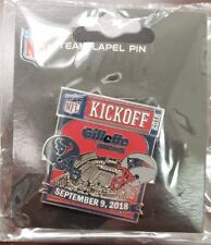Houston Texans VS New England Patriots 9/9/18 Game Day Pin KICKOFF 2018