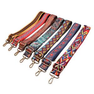 Boho Canvas Replacement Shoulder Bag Strap Adjustable Cross Body Handbag 135cm