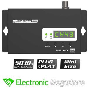 MODULATORE DIGITALE HDMI FULL HD DVB-T2 EDISION MINI X TELECAMERE, SKY E ALTRO