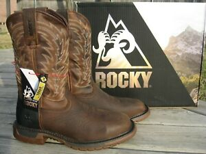 NEW Mens Rocky Brown Leather Original Ride FLX Steel Toe Work Boots RKW0321