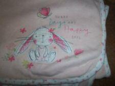 Mothercare Rosa Floral días soleados Conejo Bebé Cochecito Cuna Edredón Manta