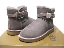 Ugg Mini Karle Brooch Women Boots Stormy Grey US 10/UK8.5/EU41