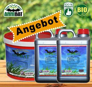 AnniBAT 2 x 5 Liter Flüssig + 10 Kg Pulver BIO Universal Dünger - Angebot