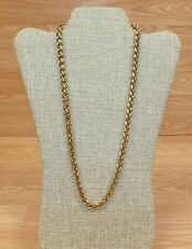 Unbranded Gold Tone Rope Style Chain Women's Faux Fashion Necklace **READ**