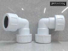 2 x 21.5mm tuyau coude compression sans colle nécessaire de débordement condenser pipe bend