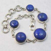 Sterling Silver Lapis Lazuli Bracelet Wedding SilverStarJewel Jewelry