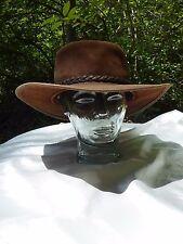 Jackaroo LEATHER AUSTRALIAN BUSH HAT Brown XL Akubra Style Gold Coast Hat
