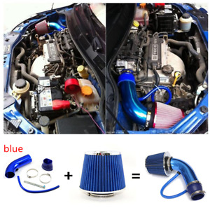 High Flow Car Cold Air Filter 3in Universal Duct Induction Intake Pipe Hose Kit