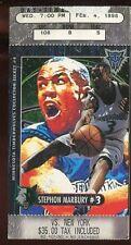 Ticket Basketball Minnesota 1997 - 98 2/4 New York Knicks Kevin Garnett
