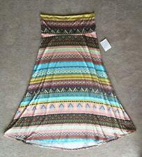 NWT LuLaRoe Maxi Skirt 2XL - STUNNING AZTEC Pink Aqua Purple Mustard Black