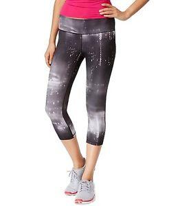 New IDEOLOGY Women's Printed Capri Cropped Leggings Yoga Active Workout Size M