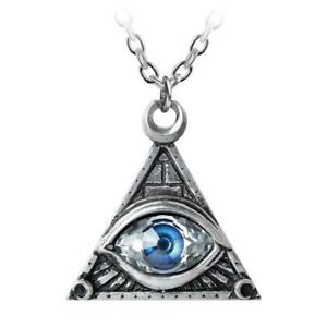 Eye Of Providence Pewter Necklace Alchemy Gothic Pewter Jewelry P827