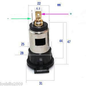 1pc 12V-24V 120W-250W Car Cigarette Lighter Power Outlet Female Jack Socket