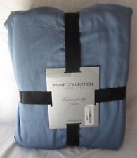 HOME COLLECTION CLOTH ART 3PC DUVET 100% COTTON BLUE 86