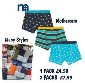 EX Mothercare Boys Kids Boxers Boxer Shorts Pants Briefs Trunks Underpants NEW