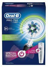 Braun Oral-B Pro 750 Elektrische Zahnbürste mit Gratis Reiseetui schwarz
