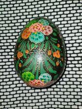 Painted Wooden Egg Vtg C.C.I.E.