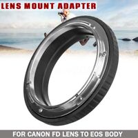 For Canon FD Lens To EOS EF DSLR SLR Camera FD-EOS Mount Adapter Ring No Glass