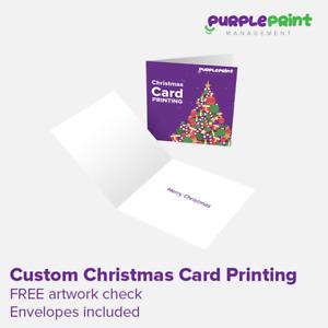 Custom Christmas Card Printing - Greeting Cards Printed - Xmas - Personalised