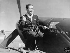 RAF Danish Pilot Officer Thalbitzer 1942 World War 2, Photo 6x5 inch Reprint