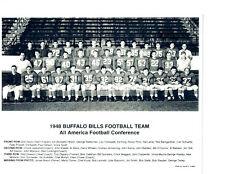 1948 BUFFALO BILLS  8X10 TEAM PHOTO AAFC NFL RATTERMAN NEW YORK FOOTBALL