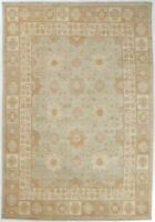 8X10 Hand-Knotted Khotan Carpet Oriental Grey Fine Wool Area Rug D52341
