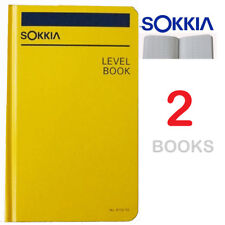 Sokkia 815255 Level Book - Set of 2 (Two) Books