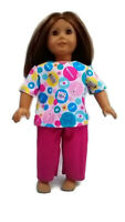"Nurse Scrubs fits American Girl 18"" Doll Clothes Medical Print"