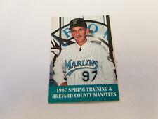 Brevard County Manatees/Marlins Spring Training 1997 Baseball Pocket Schedule