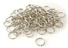 Portachiavi Anelli in acciaio nichelato 10 mm Stabili, 100 pezzi, Argento