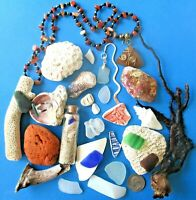 Surf-Tumbled Beach Find Mix-CORAL Pottery SEA GLASS China Shell DRIFTWOOD LBFM10